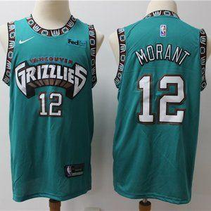 Memphis Grizzlies #12 Ja Morant Throwback Jersey